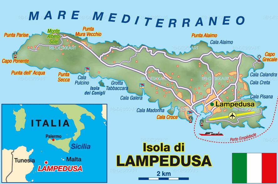 Cartina Delle Spiagge Di Lampedusa.Spiagge 2021 Residence Appartamenti Lampedusa